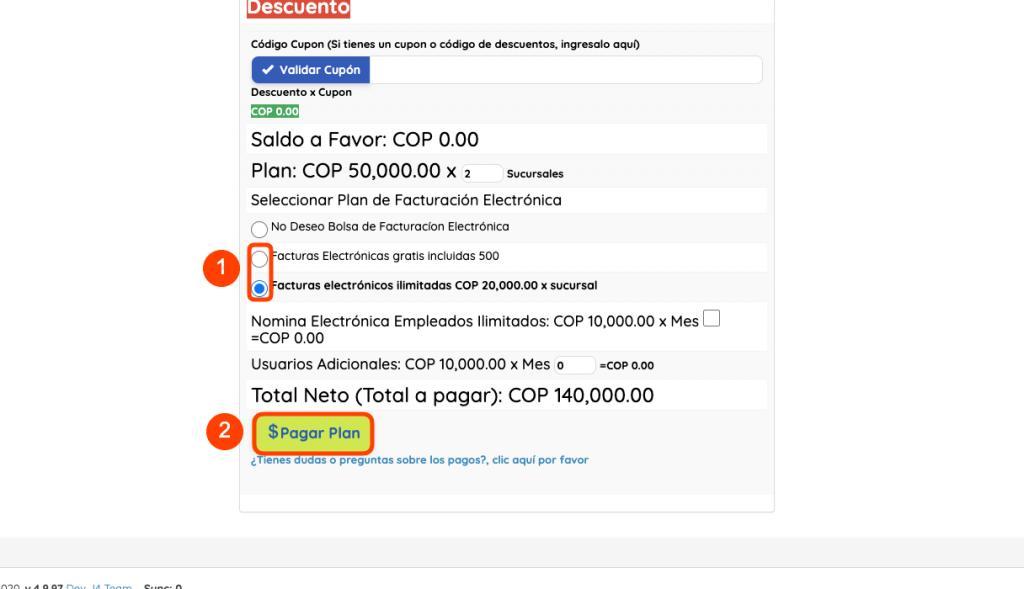 como comprar tu plan de facturación electrónica + j4pro