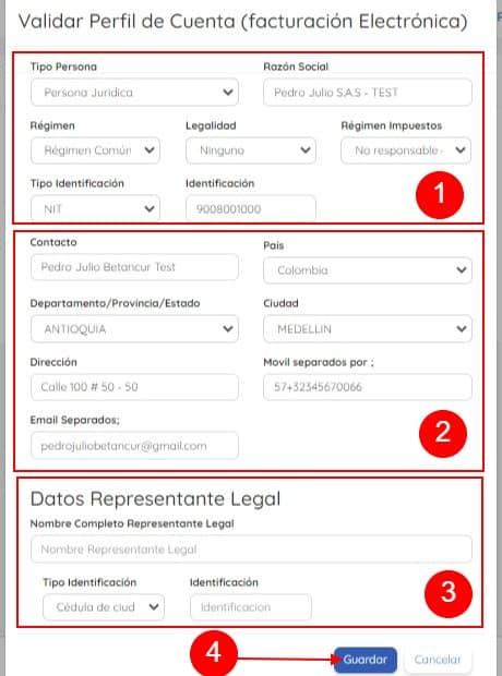 Formulario Actualizar Cuenta